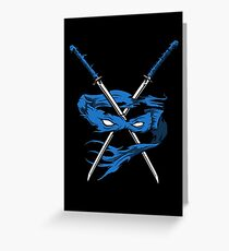 Blue Fury Greeting Card
