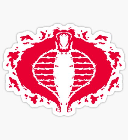 Cobrorschach  (red) Sticker