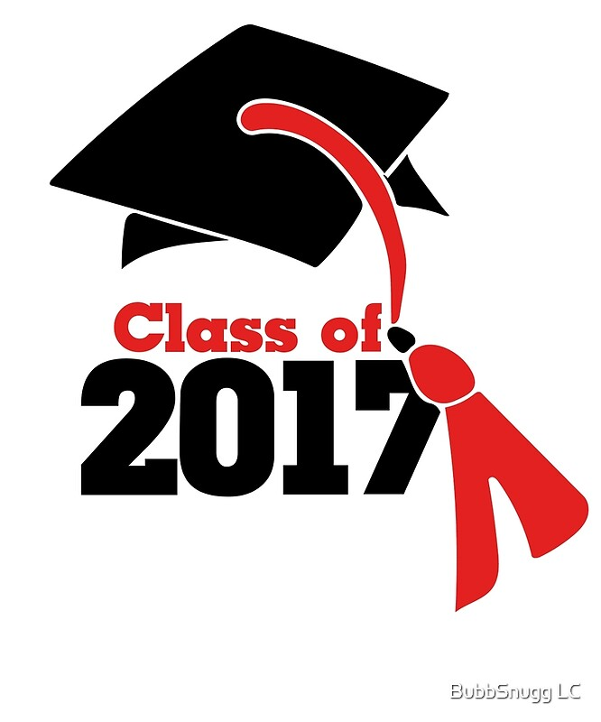 """""""Class of 2017 in red and black graduation cap"""" Art Prints ..."""