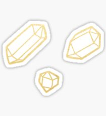 Gold and White Gemstone Pattern Sticker