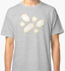 Gold and White Gemstone Pattern Classic T-Shirt