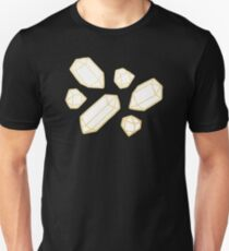 Gold and White Gemstone Pattern T-Shirt