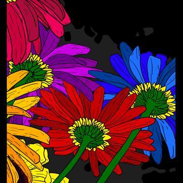 Flowers - Framed T-shirt by australiansalt
