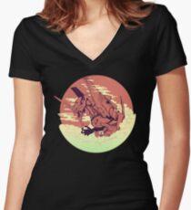 Unit 01 [Neon Genesis Evangelion] Women's Fitted V-Neck T-Shirt