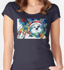 Colorful Statue Of Liberty - Sharon Cummings Women's Fitted Scoop T-Shirt