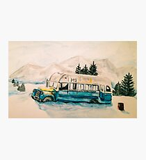 Into the Wild Magic Bus Painting Photographic Print