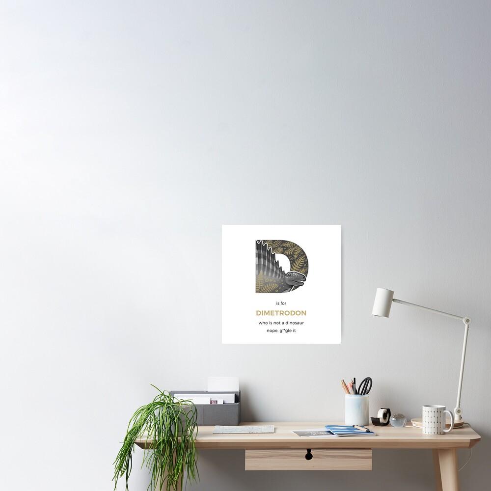 D is for Dimetrodon Poster