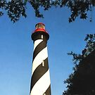 St Augustine Lighthouse by Noble Upchurch