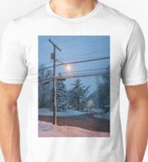 Winter Dusk Street Light  T-Shirt