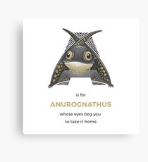 A is for Anurognathus Canvas Print