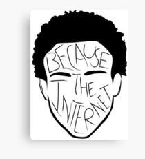 Because The Internet - Black Canvas Print
