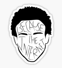 Because The Internet - Black Sticker