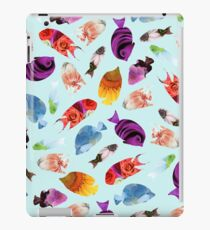 Fish shaped Flowers iPad Case/Skin