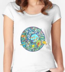 Fish Party Women's Fitted Scoop T-Shirt