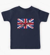 Bike Flag United Kingdom (Big - Highlight) Kids Tee
