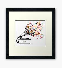 Music for my ears retro style Framed Print