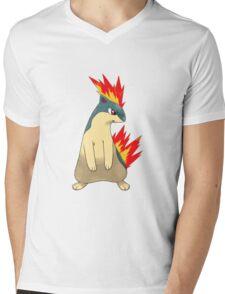 Quilava Mens V-Neck T-Shirt