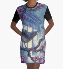 Night Song Graphic T-Shirt Dress