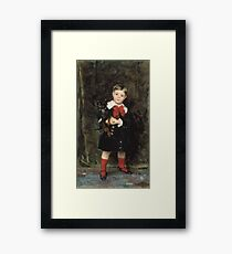 John Singer Sargent - Robert 1879. Child portrait: cute baby, kid, children, pretty angel, child, kids, lovely family, boys and girls, boy and girl, mom mum mammy mam, childhood Framed Print