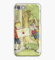 John Tenniel - The Fish-Footman Alice In Wonderland. Insects painting: cute bee, fly, bugs, lucky, pets, wild life, animal, butterfly, little small, insects, nature iPhone Case/Skin