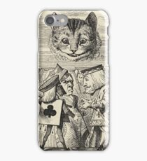 John Tenniel - The King Of Hearts Arguing With The Executioner, From  Alice S Adventures In Wonderland. Cat portrait: cute cat, kitten, kitty, cats, pets, wild life, animal, smile, little, kids, baby iPhone Case/Skin