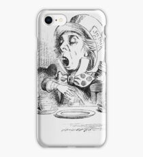 John Tenniel - The Mad Hatter S Tea Party, Illustration From  Alice In Wonderland. Picnic painting: picnic time, man woman, holiday, people, family, travel, garden, outdoor meal, eating food, picnic iPhone Case/Skin