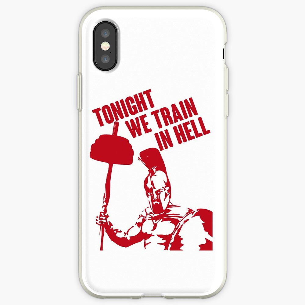 TONIGHT_WE_TRAIN_IN_HELL iPhone Case & Cover
