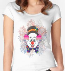Clown.  fun and cute colorful clown, Fireworks Women's Fitted Scoop T-Shirt