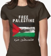 Vintage Free Palestine T shirts & Gifts Womens Fitted T-Shirt