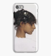 John Singer Sargent - Head Of A Capri Girl. Girl portrait: cute girl, girly, female, pretty angel, child, beautiful dress, face with hairs, smile, little, kids, baby iPhone Case/Skin
