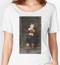 John Singer Sargent - Robert 1879. Child portrait: cute baby, kid, children, pretty angel, child, kids, lovely family, boys and girls, boy and girl, mom mum mammy mam, childhood Women's Relaxed Fit T-Shirt