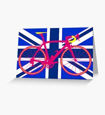 Bike Flag United Kingdom (Blue) (Big - Highlight) Greeting Card