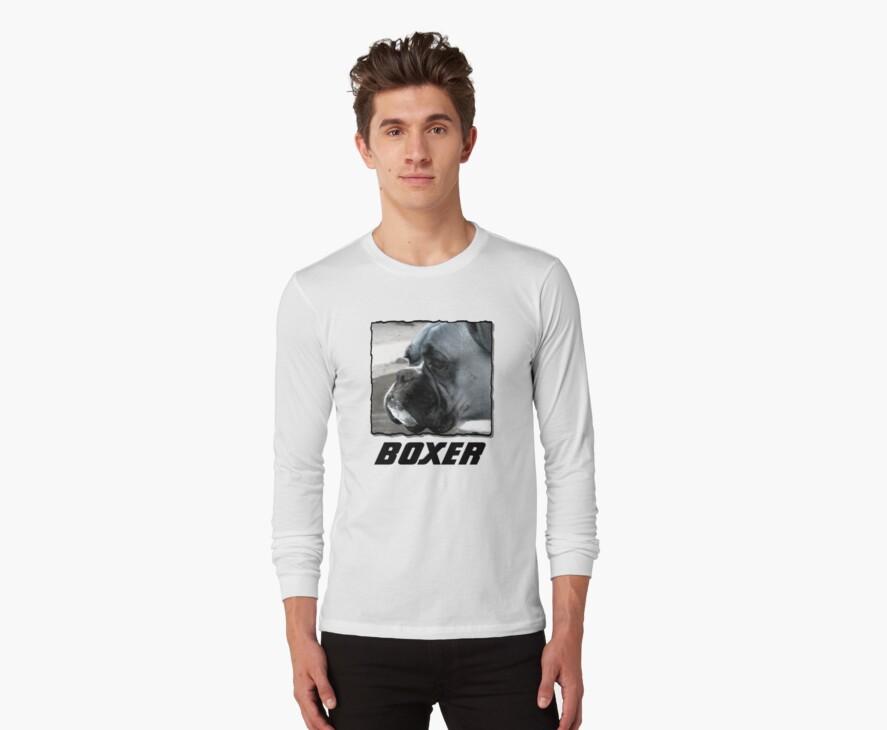 Black and white boxer headshot by ritmoboxers