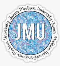 James Madison University Paisley  Sticker