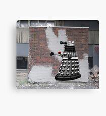 Dalek Graffiti - Banksy Style Canvas Print