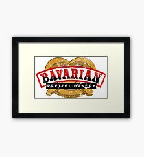 Bavarian Pretzel Logo Distressed Framed Print