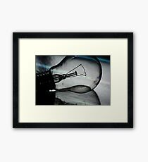 Light (bulb) and reflection Framed Print