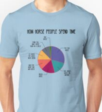 How Horse People Spend Time Unisex T-Shirt