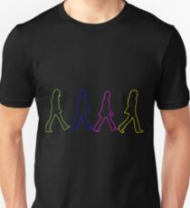 Beatles Abbey Road Cross Neon Sillouethes T-Shirt