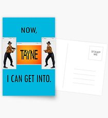 Now TAYNE I can get into  Postcards