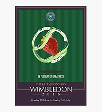 Wimbledon 2016- Strawberry and Cream } In Pursuit To Greatness  Photographic Print