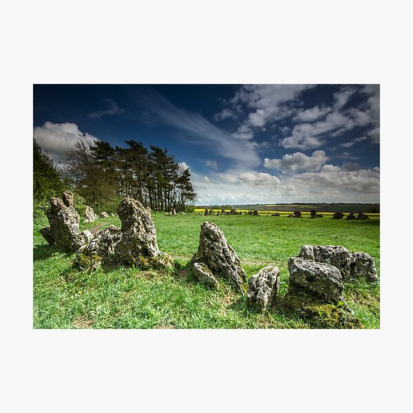 The Rollright Stones in Spring Photographic Print