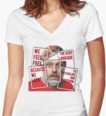 The Real of S.Zizek Women's Fitted V-Neck T-Shirt