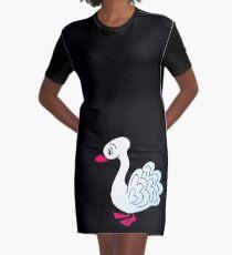 Pretty Swan Graphic T-Shirt Dress