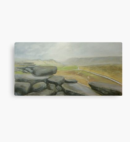 Wet day at Stanage Edge Canvas Print