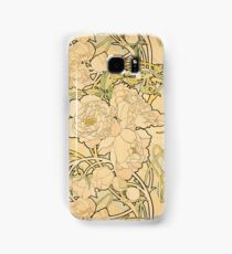 'Peonies' by Alphonse Mucha (Reproduction) Samsung Galaxy Case/Skin