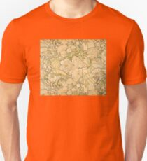 'Peonies' by Alphonse Mucha (Reproduction) Unisex T-Shirt