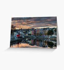 Cork Sunset Greeting Card