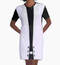 Formal Jacket Graphic T-Shirt Dress