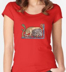 Medieval lions Women's Fitted Scoop T-Shirt